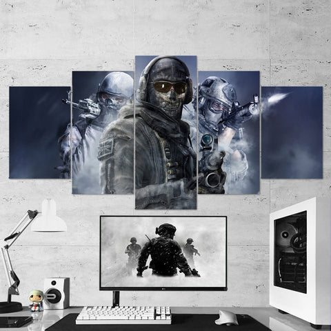 Call Of Duty 5 Piece Canvas Wall Art Gaming Canvas 5PCCOD014