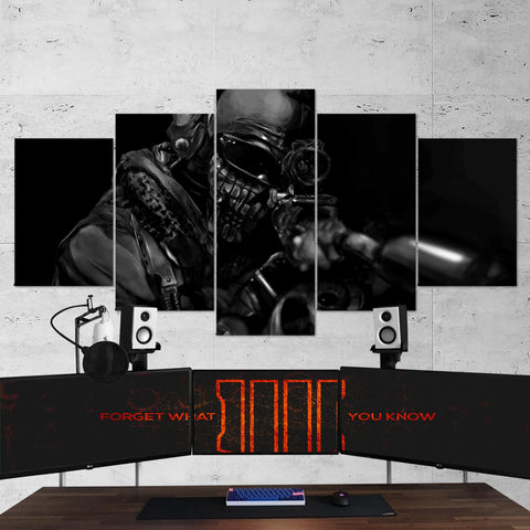 Call Of Duty 5 Piece Canvas Wall Art Gaming Canvas 5PCCOD015