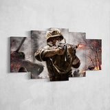 Call Of Duty 5 World at War 5 Piece Canvas Wall Art Gaming Canvas 5PCCOD029