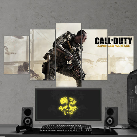 Call Of Duty Advanced Warfare 5 Piece Canvas Wall Art Gaming Canvas 5PCCOD003