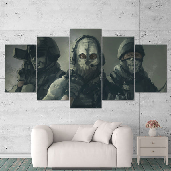 Call Of Duty Art Work 5 Piece Canvas Wall Art Gaming Canvas 5PCCOD018