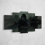 Call Of Duty Art Work 5 Piece Canvas Wall Art Gaming Canvas 5PCCOD019