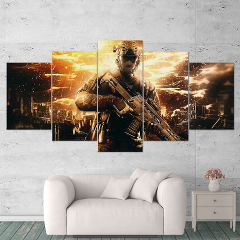 Call Of Duty Black Ops 2 - 5 Piece Canvas Wall Art Gaming Canvas 5PCCOD027