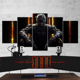 Call Of Duty Black Ops 3 - 5 Piece Canvas Wall Art Gaming Canvas 5PCCOD004