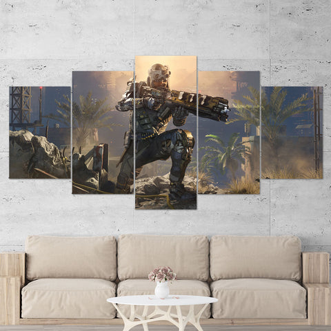 Call Of Duty Black Ops 3 - 5 Piece Canvas Wall Art Gaming Canvas 5PCCOD026