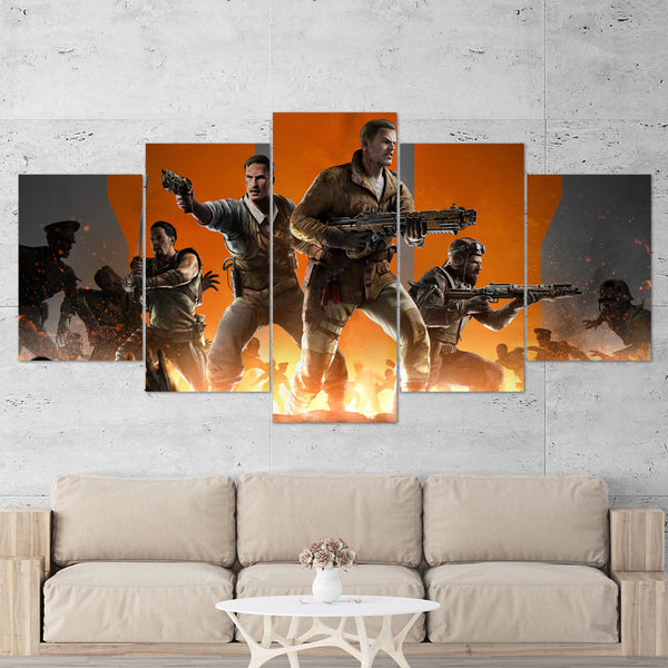 Call Of Duty Black Ops 3 - 5 Piece Canvas Wall Art Gaming Canvas 5PCCOD030