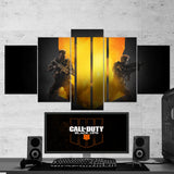 Call Of Duty Black Ops 4 - 5 Piece Canvas Wall Art Gaming Canvas 5PCCOD005