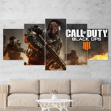 Call Of Duty Black Ops 4 - 5 Piece Canvas Wall Art Gaming Canvas 5PCCOD028