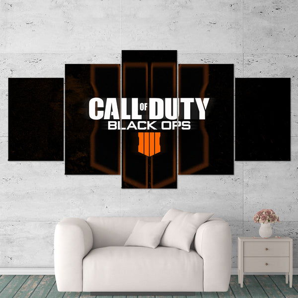 Call Of Duty Black Ops 4 Logo 5 Piece Canvas Wall Art Gaming Canvas 5PCCOD025