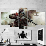 Call Of Duty Black Ops 5 Piece Canvas Wall Art Gaming Canvas 5PCCOD011