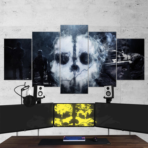 Call Of Duty Ghost Logo 5 Piece Canvas Wall Art Gaming Canvas 5PCCOD013