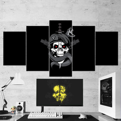 Call Of Duty Logo Minimalism 5 Piece Canvas Wall Art Gaming Canvas 5PCCOD009