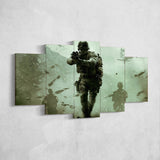 Call Of Duty Modern Warfire 5 Piece Canvas Wall Art Gaming Canvas 5PCCOD020