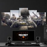 Call Of Duty World War Two WW2 No Mission Too - Difficult, No Sacrifice Too Great 5 Piece Canvas Wall Art Gaming Canvas 5PCCOD022