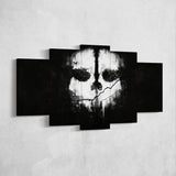 Call of Duty Ghosts 01 Skull 5 Piece Canvas Wall Art Gaming Canvas
