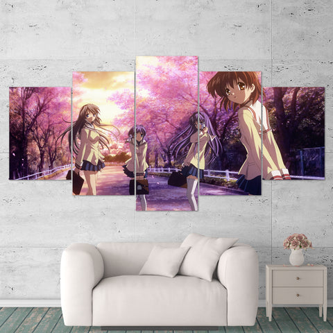 Clannad Canvas 01 Anime 5 Piece Canvas Wall Art Gaming Canvas