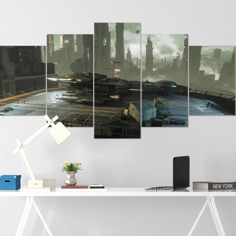 Star Citizen Canvas Wall Art - Constellation Andromeda Canvas Wall Art - Star Citizen Canvas Print - 5 Piece Canvas Wall Art Star Citizen Poster 03