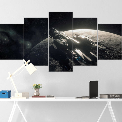 Star Citizen Canvas Wall Art - Constellation Andromeda Canvas Wall Art - Star Citizen Canvas Print - 5 Piece Canvas Wall Art Star Citizen Poster 06