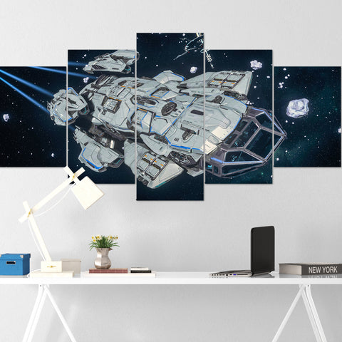 Star Citizen Canvas Wall Art - Constellation Andromeda Canvas Wall Art - Star Citizen Canvas Print - 5 Piece Canvas Wall Art Star Citizen Poster 08