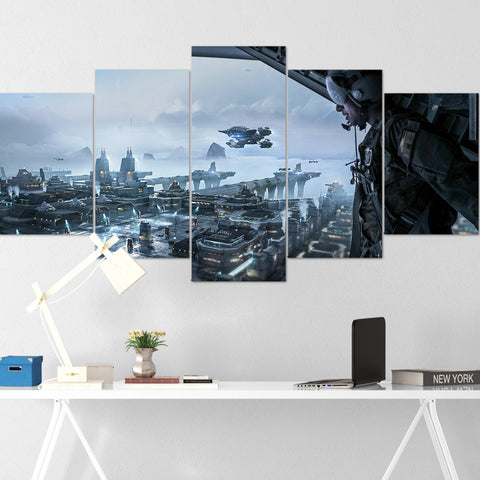 Star Citizen Canvas Wall Art - Constellation Andromeda Canvas Wall Art - Star Citizen Canvas Print - 5 Piece Canvas Wall Art Star Citizen Poster 13
