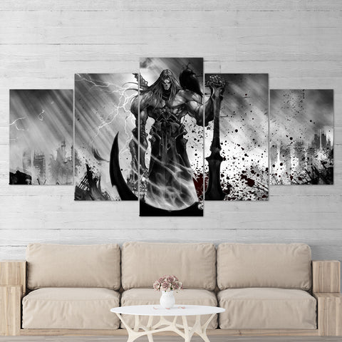 Darksiders Canvas Wall Art 01 Death 5 Piece Canvas Wall Art Gaming Canvas