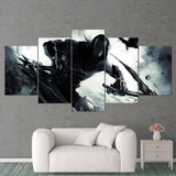 Darksiders Canvas Wall Art Death 5 Piece Canvas Wall Art Gaming Canvas