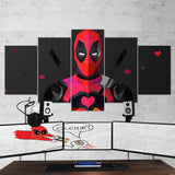Deadpool 01 - 5 Piece Canvas Wall Art Gaming Canvas