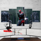 Deadpool Wall Art 06 - 5 Piece Canvas Wall Art Gaming Canvas