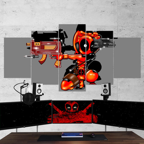 Deadpool 10 Minimalism 5 Piece Canvas Wall Art Gaming Canvas