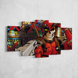 Deadpool Canvas - Skull 5 Piece Canvas Wall Art Gaming Canvas