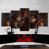Deadpool 13 - 5 Piece Canvas Wall Art Gaming Canvas