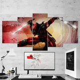 Deadpool 14 - 5 Piece Canvas Wall Art Gaming Canvas