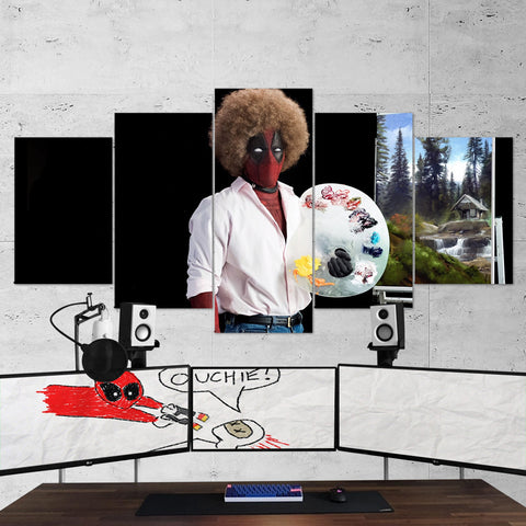 Deadpool 17 - 5 Piece Canvas Wall Art Gaming Canvas