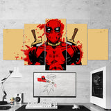 Deadpool Canvas 20 - 5 Piece Canvas Wall Art Gaming Canvas