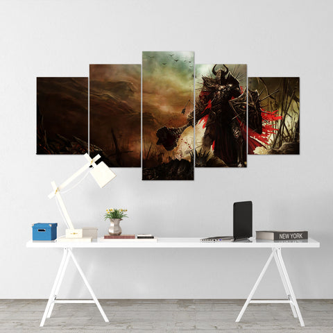 Diablo 03 - 5 Piece Canvas Wall Art Gaming Diablo Canvas