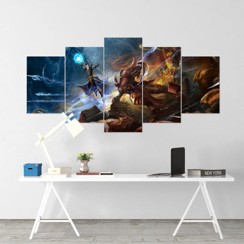Diablo 07 - 5 Piece Canvas Wall Art Gaming Diablo Canvas