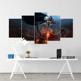 Diablo 08 - 5 Piece Canvas Wall Art Gaming Diablo Canvas