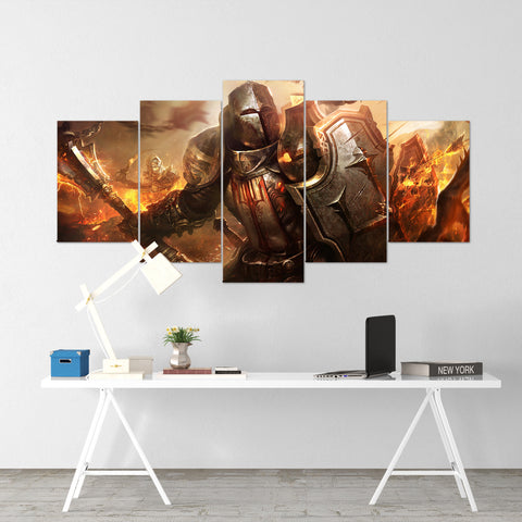 Diablo 09 - 5 Piece Canvas Wall Art Gaming Diablo Canvas
