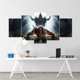 Diablo 12 - 5 Piece Canvas Wall Art Gaming Diablo Canvas