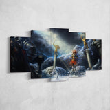 Diablo 13 - 5 Piece Canvas Wall Art Gaming Diablo Canvas