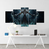 Diablo 15 - 5 Piece Canvas Wall Art Gaming Diablo Canvas