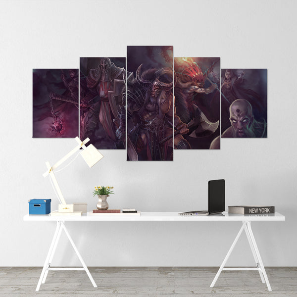Diablo 16 - 5 Piece Canvas Wall Art Gaming Diablo Canvas