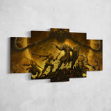 Diablo 17 - 5 Piece Canvas Wall Art Gaming Diablo Canvas