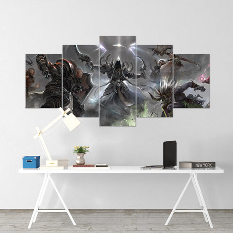 Diablo 20 - 5 Piece Canvas Wall Art Gaming Diablo Canvas