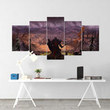 Diablo 22 - 5 Piece Canvas Wall Art Gaming Diablo Canvas