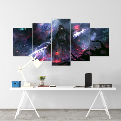 Diablo 25 - 5 Piece Canvas Wall Art Gaming Diablo Canvas