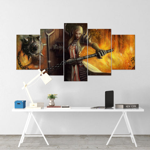 Diablo 27 - 5 Piece Canvas Wall Art Gaming Diablo Canvas