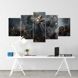 Diablo 28 - 5 Piece Canvas Wall Art Gaming Diablo Canvas