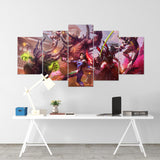 Diablo 31 - 5 Piece Canvas Wall Art Gaming Diablo Canvas