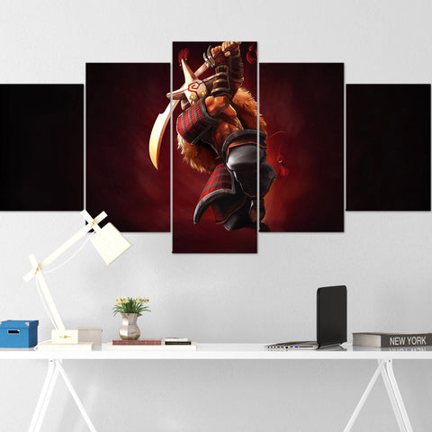 Dota Canvas Wall Art 01 - Juggernaut Canvas Wall Art - Dota Poster - 5 Piece Canvas Wall Art - Dota 2 Wall Art
